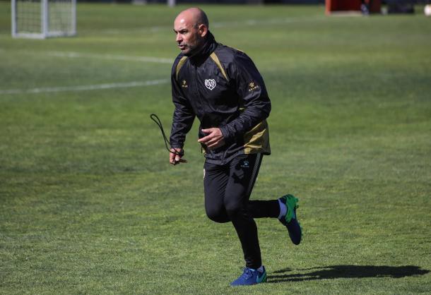 Paco Jémez durante un entrenamiento | Fotografía: Ricardo Grande (VAVEL)