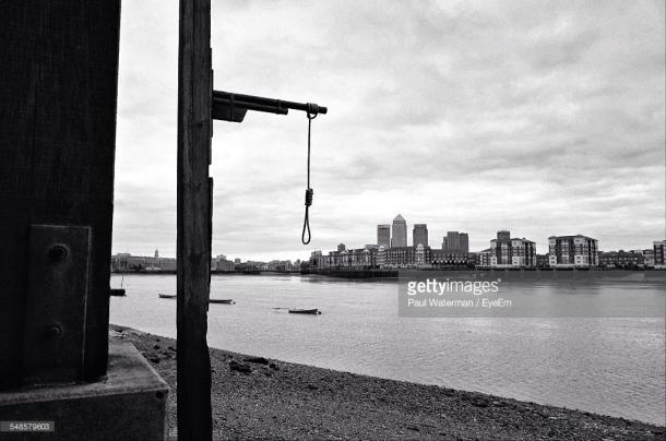 Gallows by the river. (Photo: Paul Waterman/Getty Images)