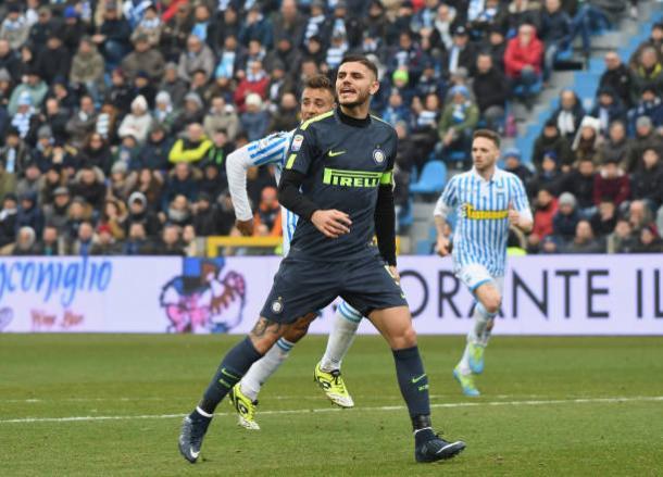 Estrela do time, Icardi não deverá jogar por conta de lesão (Foto: Claudio Villa - Inter/ Getty Images)