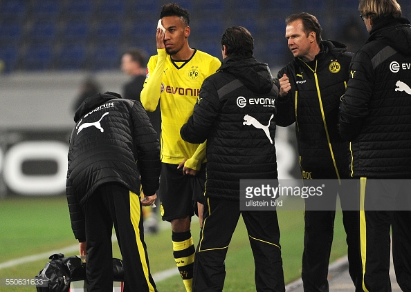 Aubameyang may not be fit to face the second-tier side. Photo: Getty