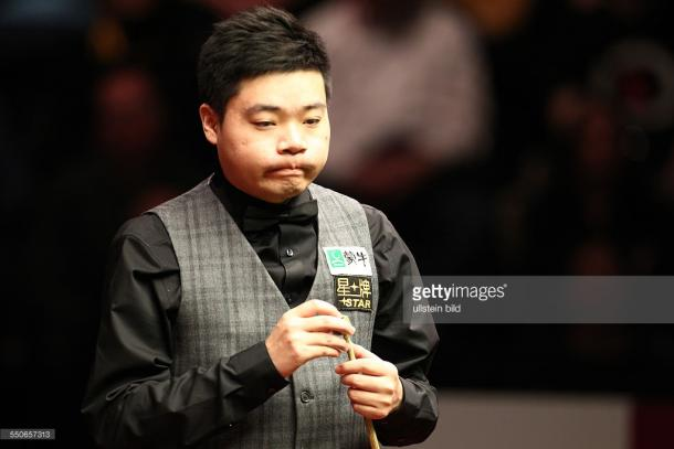 Ding is the last Asian player left standing oncemore (photo: Getty Images)