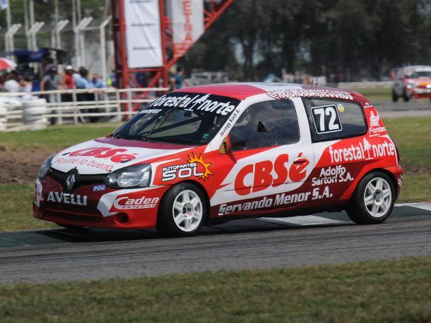 Juan Pablo Koch en plena velocidad transitando el Autódromo de San Jorge. Foto: APAT.