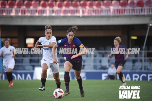 Vicky Losada ante el Valencia | Foto: Noelia Déniz (VAVEL)