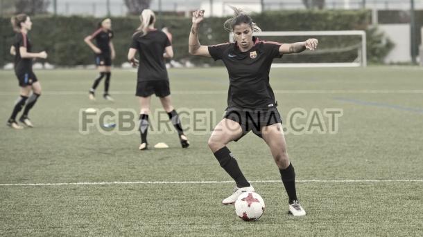 Fabiana Simoes entrenando. Foto: FC Barcelona