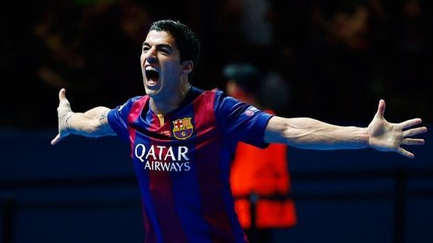 Suárez celebrando su gol en la final de Berlín I Fuente: eso.rt.com