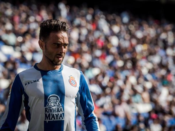 Sergio García durante un partido   Foto: rcdespanyol.com