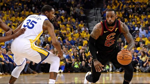 James turned in one of the finest performances in Finals history in Game 1/Photo: 11alive.com