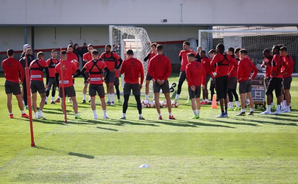 Jugadores del Rayo Vallecano durante un entrenamiento   Fotografía: Rayo Vallecano S.A.D.