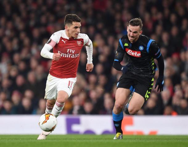 El momento en que Torreita conduce provocando el segundo tanto de la noche / Foto: Twitter oficial Arsenal