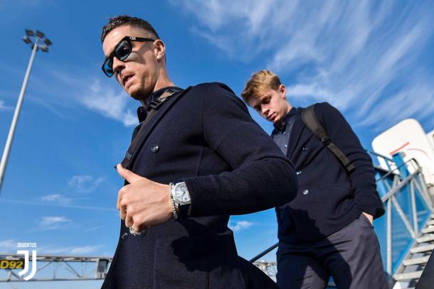 Cristiano listo para una nueva ronda KO de Champions / Foto: Twitter oficial Juventus.