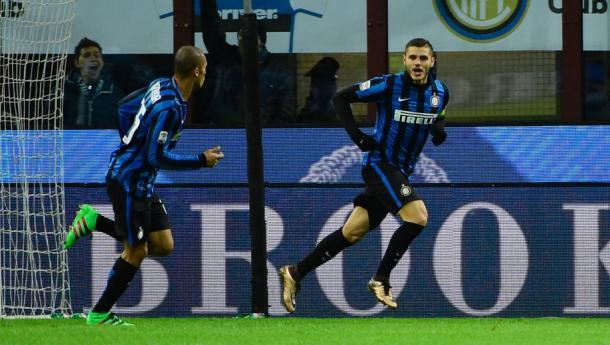 Icardi esulta dopo il gol al Chievo | Foto: 90min.com
