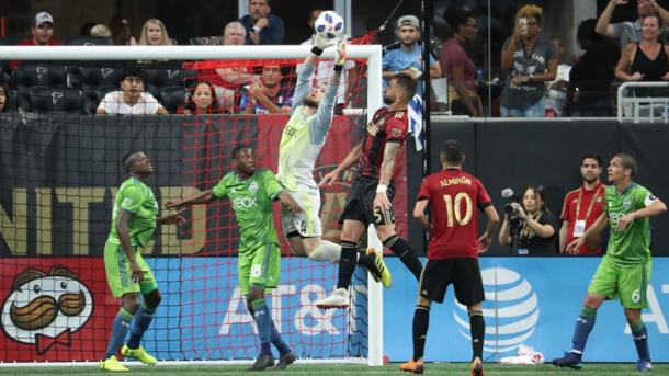 Stefan Frei put in a strong performance today for Seattle | Source: Jason Getz-USA TODAY Sports