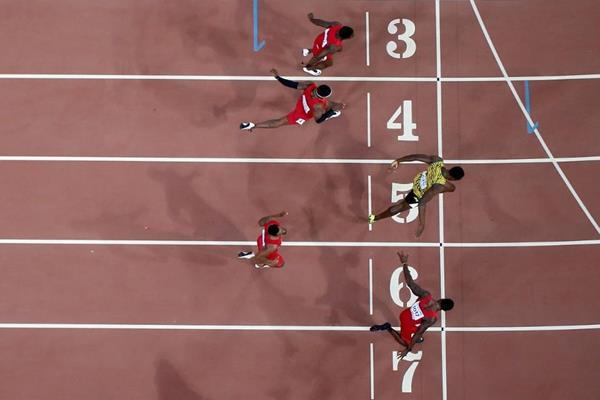 Bolt venceu os 100 metros por muito pouco (Foto: Getty Images)