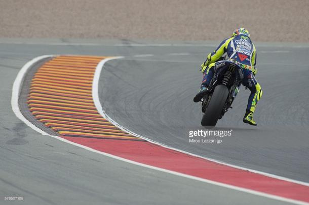 Rossi aboard his Movistar Yamaha M1 - Getty Images