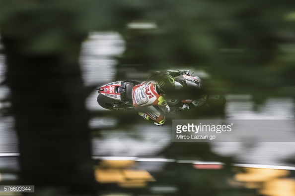 Amazing shot of Crutchlow - Getty Images