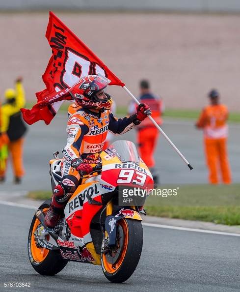 Marquez celebrating his win - Getty Images