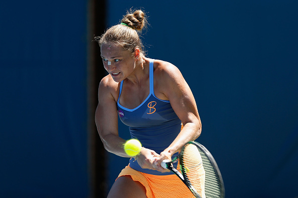 Bondarenko works hard and saves a break point | Photo: Lachlan Cunningham/Getty Images