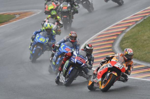 Pedrosa leading the way for Lorenzo and the Suzuki boys - www.hondaracingcorporation.com