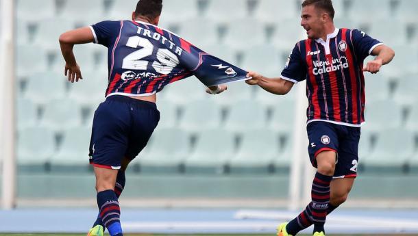 Trotta dopo il gol al Palermo. Fonte foto: 90min.com