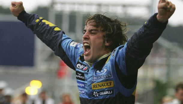 Alonso tras ganar un Mundial | Foto: Getty Images