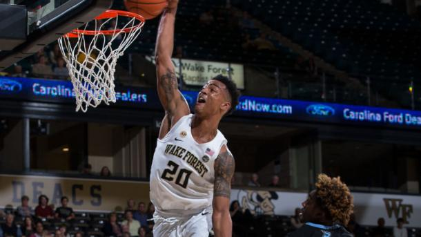 Collins dominated the ACC all year long, nearly averaging a double-double/Photo: Brian Westerholt/Wake Sports