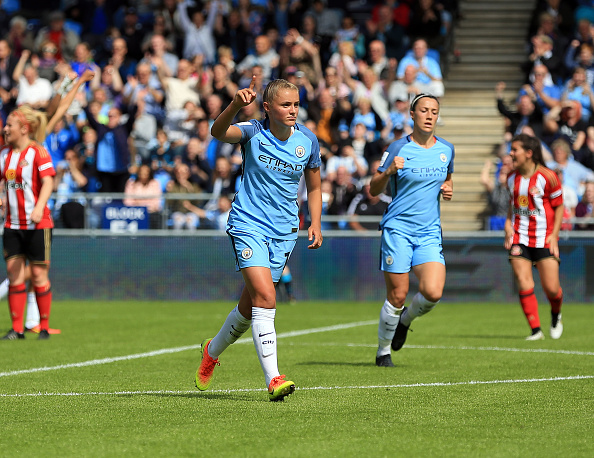 Georgia Stanway has been outstanding for City in recent weeks. (Photo: Clint Hughes - The FA/The FA via Getty Images)