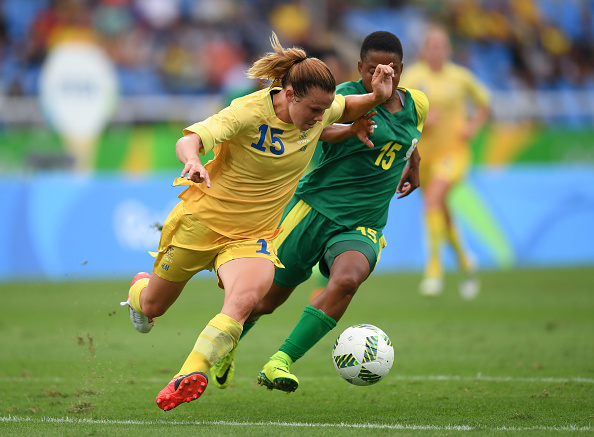 Jessica Samuelsson in action for Sweden in Rio last year | Source: Stephen McCarthy/Sportsfile via Getty Images