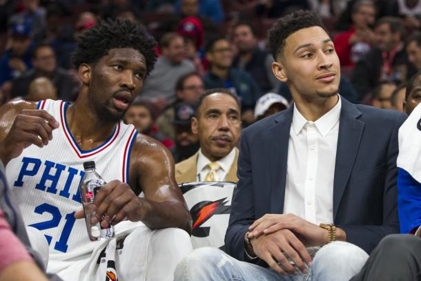 Ben Simmons and Joel Embiid are the future of 76ers basketball. Photo: Chris Szagola USA-TODAY Sports