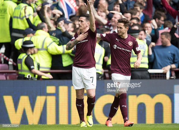 Rangers have been heavily linked to Hearts winger Jamie Walker. (picture: Getty Images / Steve Welsh)