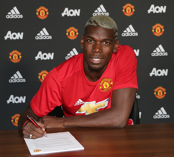Paul Pogba been unveiled as a Manchester United player | Photo: Getty Images