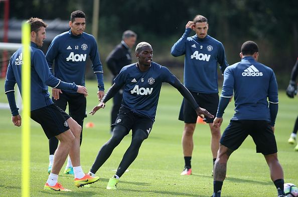 Paul Pogba in training after his world-record move to Manchester United | Photo: Getty Images
