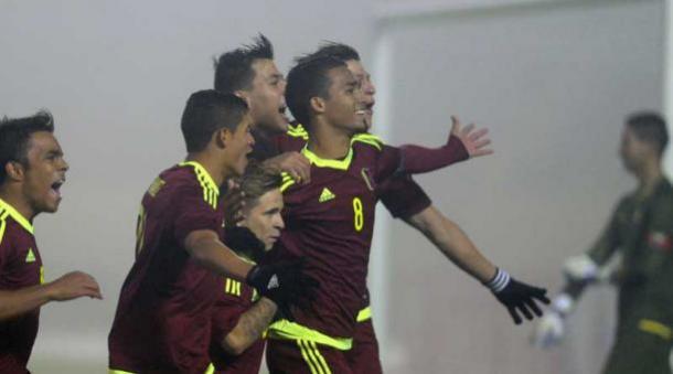 Celebración de gol. FOTO: AFP