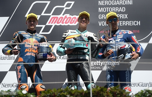 The first Moto3 podium in 19 years with mir claiming the top spot - Getty Images