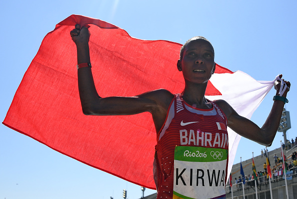 Bahrain's Kirwa probably became her country's brightest sporting star, as she managed to win the silver medal in the women's marathon. Source:Getty/Pool