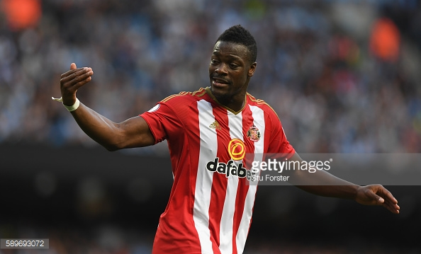 Lamine Kone during Sunderland's 1-0 defeat to Manchester City | Photo: Getty Images