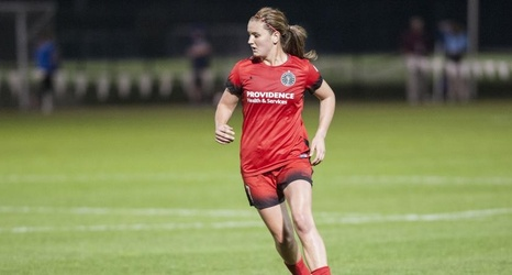 Thorns' midfielder Lindsey Horan is the current leading goal scorer of the NWSL with two. Photo provided by Portland Thorns FC Twitter.