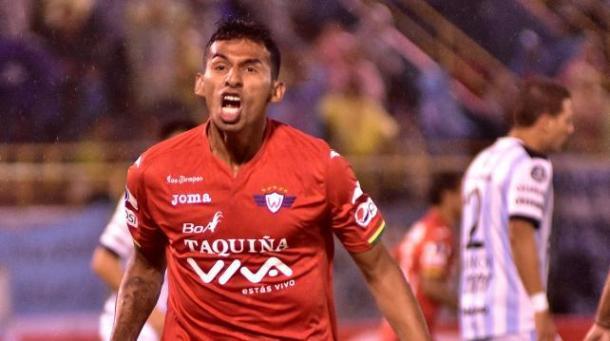 Este es Gilbert Álvarez, el goleador de Jorge Wilstermann. Foto: Bo news.