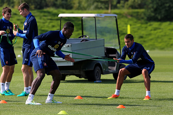 Supposed wantaway defender Lamine Kone in training with Sunderland. | Photo: Getty Images