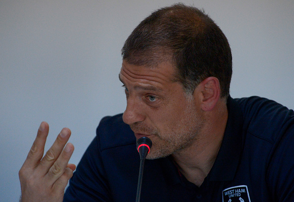 Above: West Ham United manager Slaven Bilic in his pre-match press conference ahead of their match with Astra Giurgiu | Photo: Getty Images