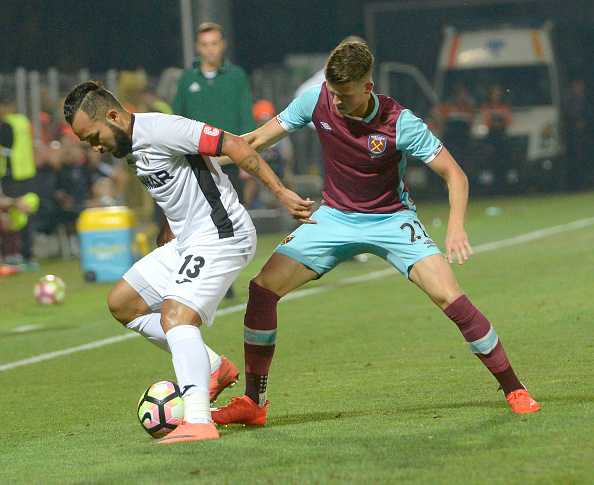 Sam Byram in action during West Ham's 1-1 draw with Astra Giurgiu | Photo: Getty Images