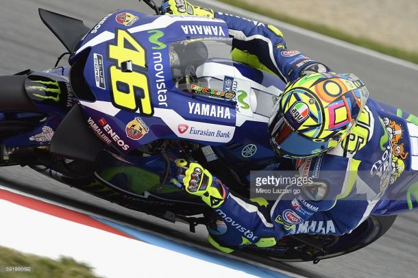 Rossi first to improve at Brno FP3 - Getty images