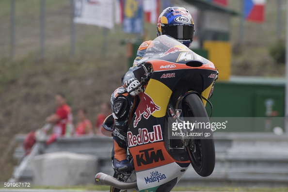 Wheelie successful so far this weekend for Brad Binder - Getty Images