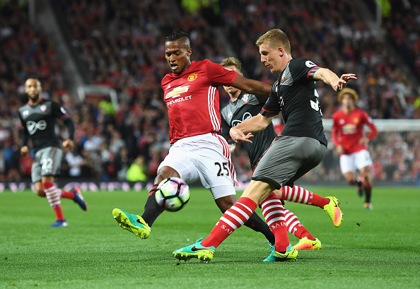 Antonio Valencia in action during Manchester United's 2-0 win over Southampton | Photo: Getty Images