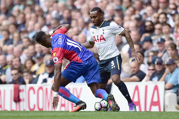 Above: Wilfried Zaha in action during Crystal Palace's 1-0 defeat to the Tottenham | Photo: Getty Images