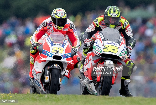 Crutchlow overtakes Iannone to take the lead - Getty Images