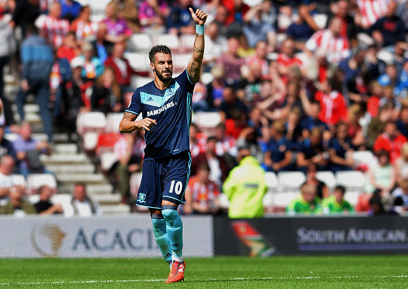 Above: One of Middlesbrough's summer signings Alvaro Negredo in action during their 2-1 win over Middlesbrough | Photo: Getty Images