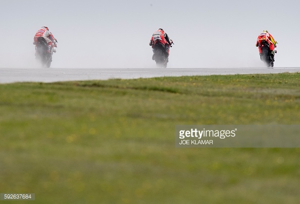 Ducati one, two, three in the wet - Getty Images
