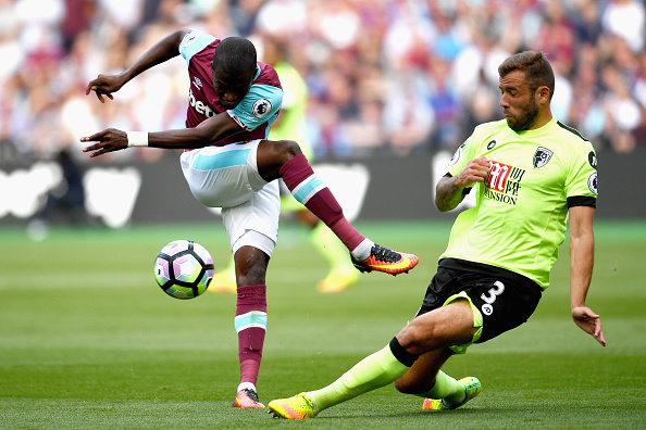 Above: Enner Valencia having his effort blocked by Steve Cook in West Ham's 1-0 win over Bournemouth | Photo: Getty Images