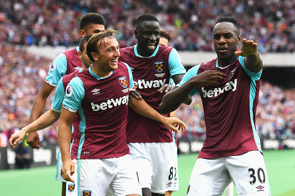 Above: Michail Antonio celebrarting his goal in West Ham's 2-1 win over Bournemouth | Photo: Getty Images