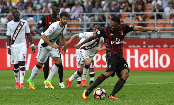 Bacca scored his third from the spot | Photo: Marco Luzzani/Getty Images